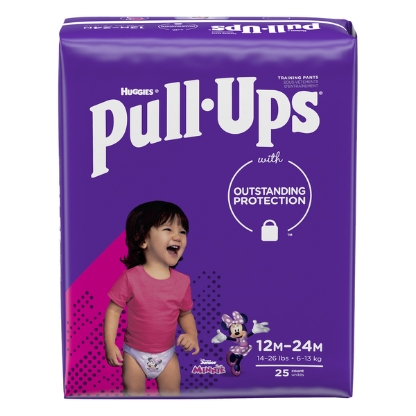 Huggies Pull-Ups 12-24 Month Training Pants Girls Minnie Mouse 14-26 lbs