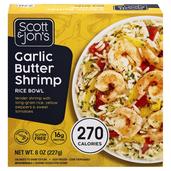 Scott & Jon's Rice Bowl Garlic Butter Shrimp Gluten Free