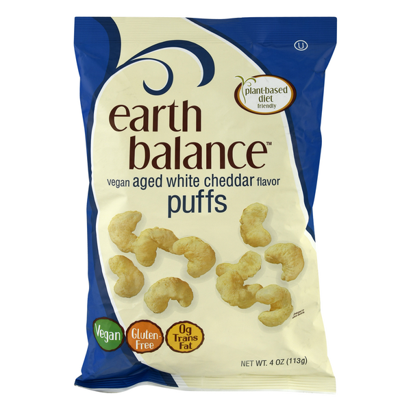Earth Balance Puffs Aged White Cheddar Vegan