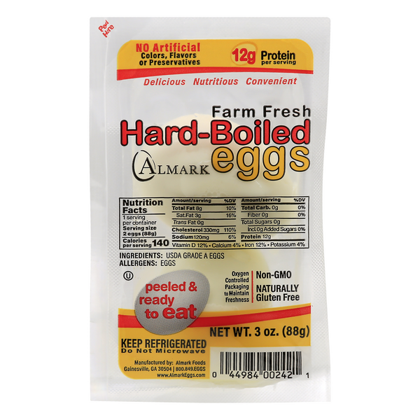 Almark Foods Eggs Hard Boiled Peeled & Ready to Eat