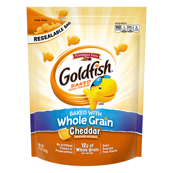 Pepperidge Farm Goldfish Baked Snack Crackers w/Whole Grain Cheddar