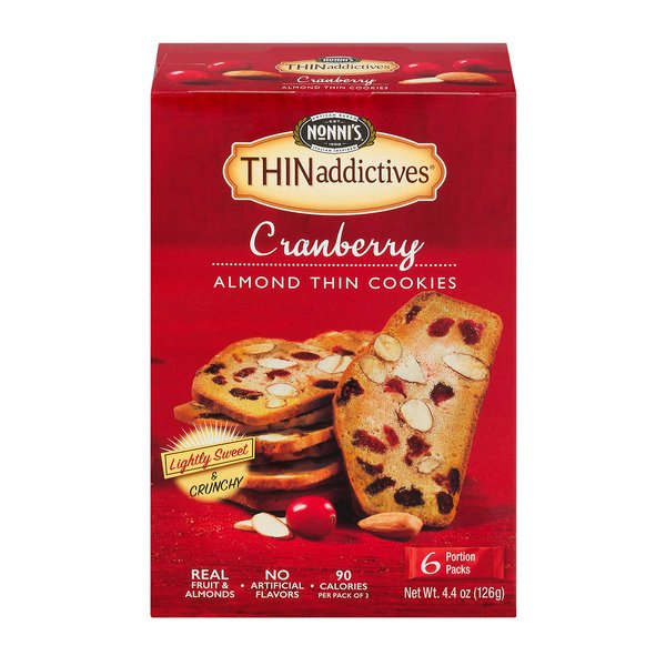 Nonni's THINaddictives Almond Thins Cranberry - 6 pk