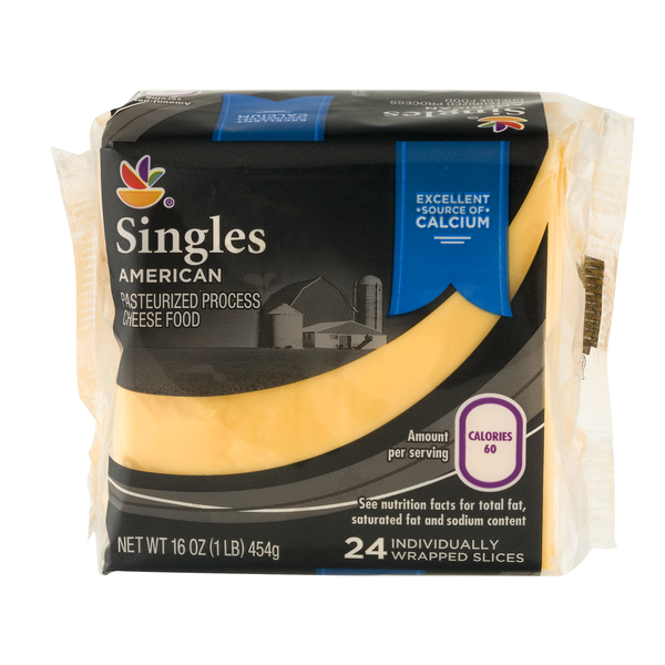 MARTIN'S American Cheese Food Yellow Singles - 24 ct