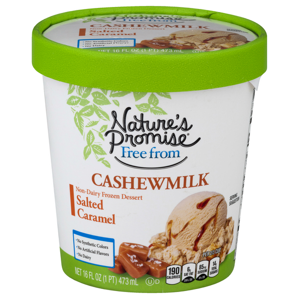 Nature's Promise Free from Cashew Milk Frozen Dessert Salted Caramel