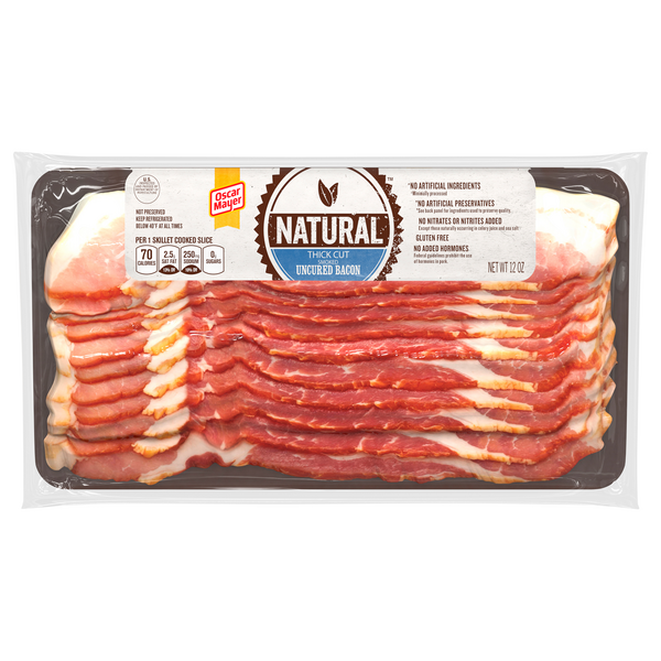 Oscar Mayer Natural Smoked Uncured Bacon Thick Cut