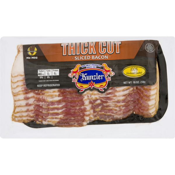 Kunzler Bacon Thick Cut Sliced