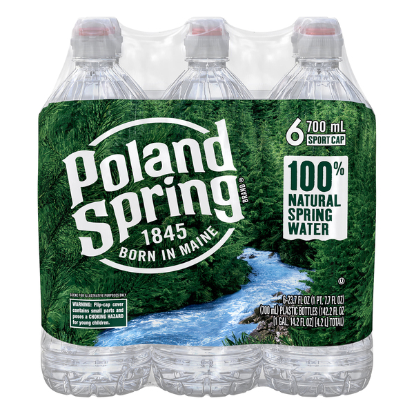 Poland Spring Water Natural Sport Bottles - 6 pk