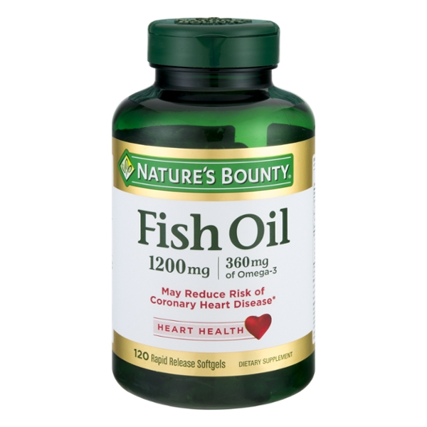 Nature's Bounty Fish Oil 1200 mg Rapid Release Softgels
