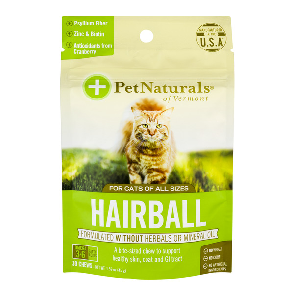 Pet Naturals Of Vermont Hairball Chews - 30 ct