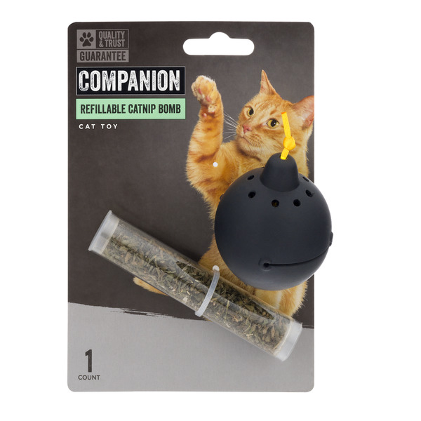 Companion Refillable Catnip Bomb Cat Toy