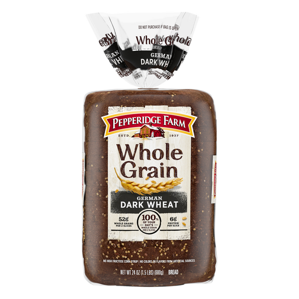 Pepperidge Farm German Dark Wheat Bread Whole Grain