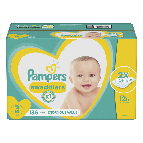 Pampers Swaddlers Size 3 Diapers 16-28 lbs