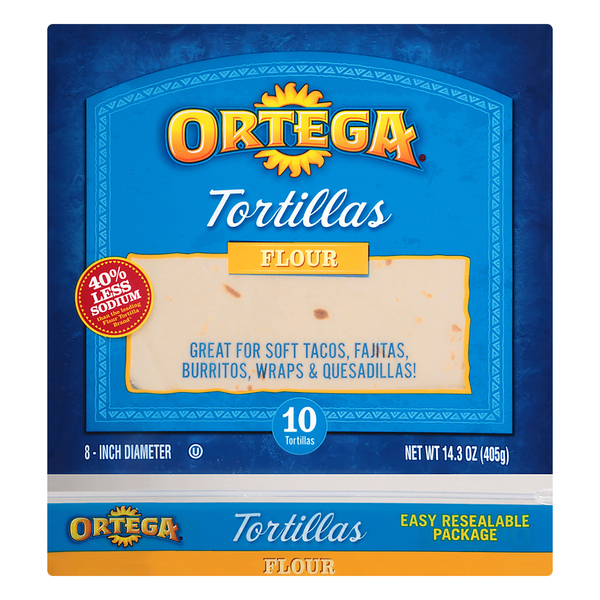 Ortega Flour Tortillas 8 Inch - 10 ct