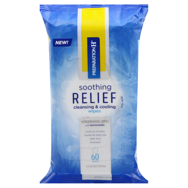 Preparation H Soothing Relief Cleaning & Cooling Wipes