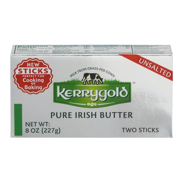 Kerrygold Pure Irish Butter Unsalted Grass-fed Sticks
