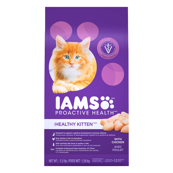 IAMS ProActive Health Healthy Kitten Dry Food with Chicken