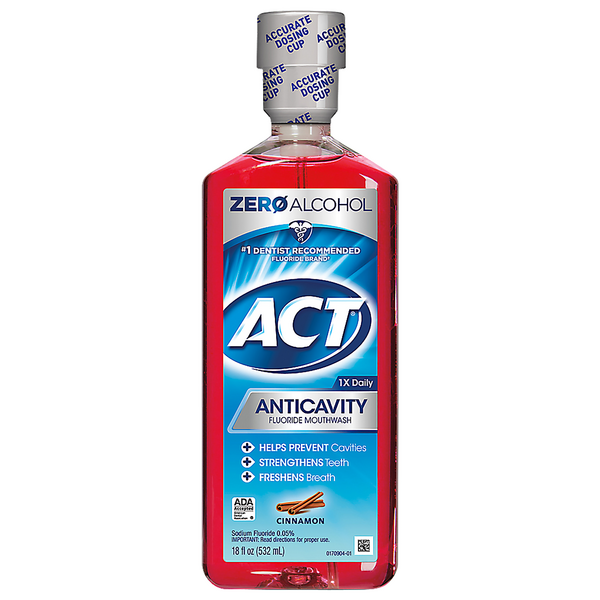 ACT Anticavity Fluoride Rinse Cinnamon Alcohol Free