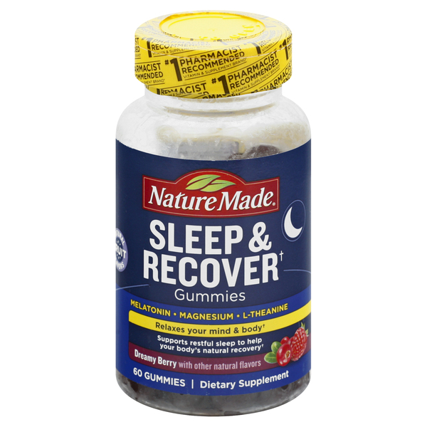 Nature Made Sleep & Recover Dietary Supplement Gummies Dreamy Berry