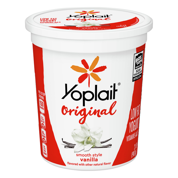 Yoplait Original Smooth Style Yogurt Vanilla Low Fat