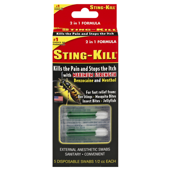 Sting-Kill Disposable Swabs
