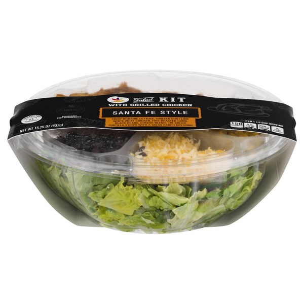 Stop & Shop Salad Kit Santa Fe Style with Grilled Chicken