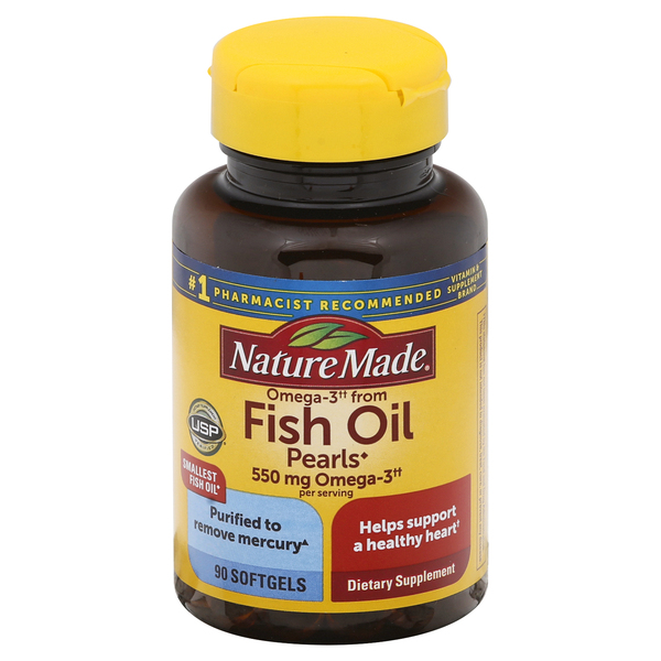Nature Made Fish Oil Pearls 500 mg Dietary Supplement Softgels