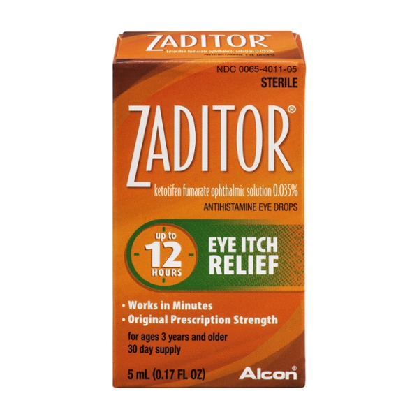 Zaditor Antihistamine Eye Drops Eye Itch Relief