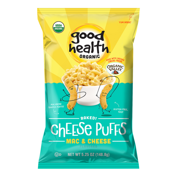 Good Health Cheese Puffs Mac & Cheese Flavored Organic