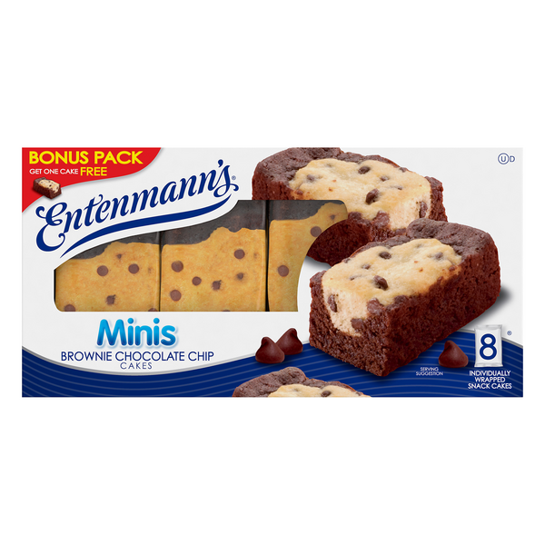 Entenmann's Minis Cakes Brownie Chocolate Chip