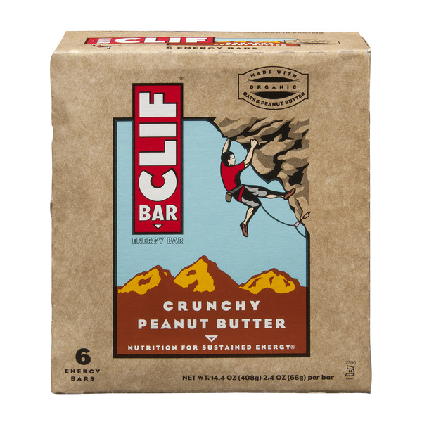 Clif Energy Bars Crunchy Peanut Butter - 6 ct