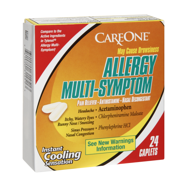 CareOne Multi-Symptom Allergy Caplets