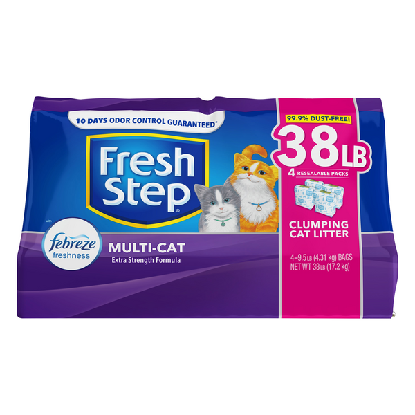 Fresh Step Multi-Cat Clumping Cat Litter Febreze Freshness - 4 ct