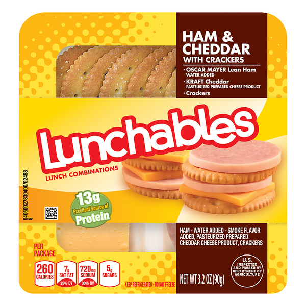 Lunchables Lunch Combinations Ham & Cheddar with Crackers