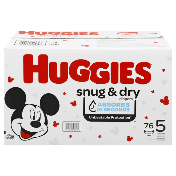 Huggies Snug & Dry Size 5 Diapers 27+ lbs