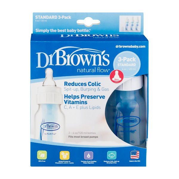 Dr. Brown's Natural Flow Baby Feeding Bottles - 3 ct