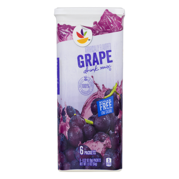 Stop & Shop Drink Mix Grape Sugar Free - 6 ct
