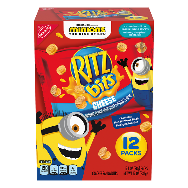 Nabisco Ritz Bits Minions Cracker Sandwiches with Cheese - 12 pk