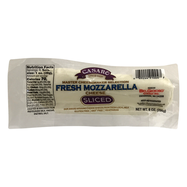 Casaro Fresh Mozzarella Cheese Sliced