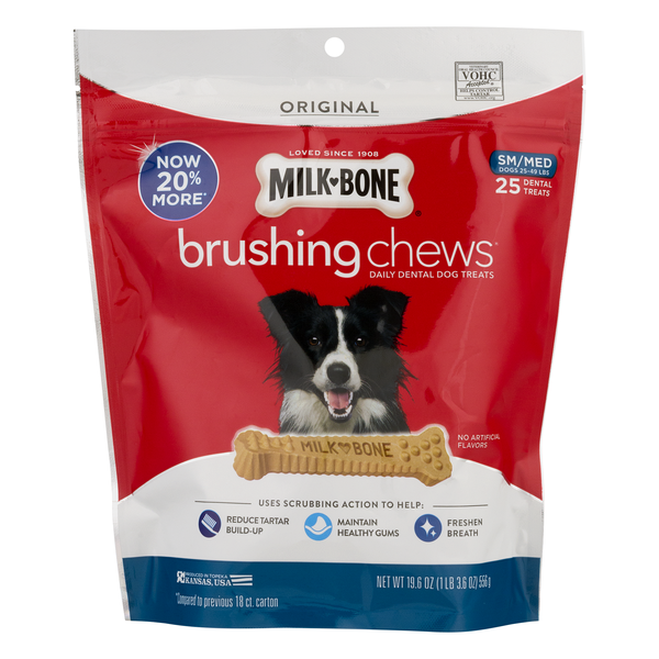 Milk-Bone Dog Dental Treats Brushing Chews Small/Medium - 25 ct