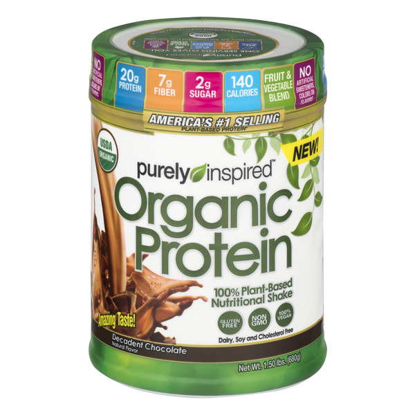 Purely Inspired Protein Decadent Chocolate Gluten Free Organic