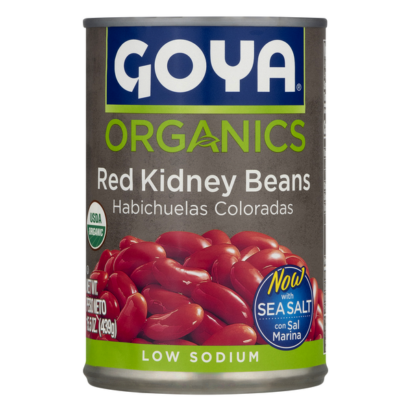 Goya Organics Red Kidney Beans Low Sodium