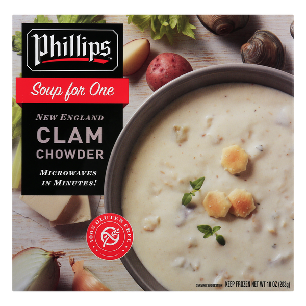 Phillips Soup for One New England Clam Chowder Frozen
