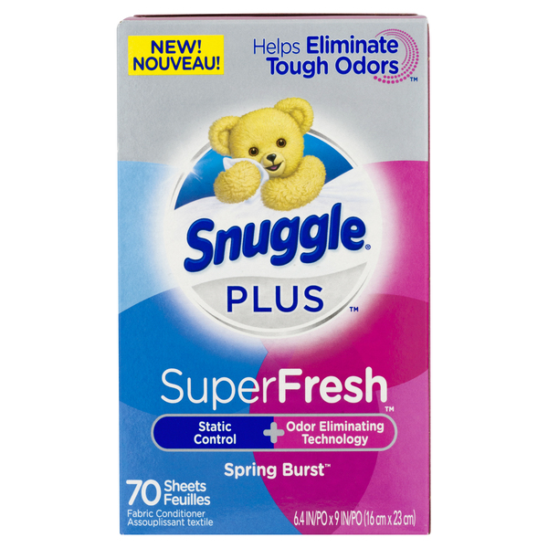 Snuggle Plus Super Fresh Fabric Conditioner Sheets Spring Burst
