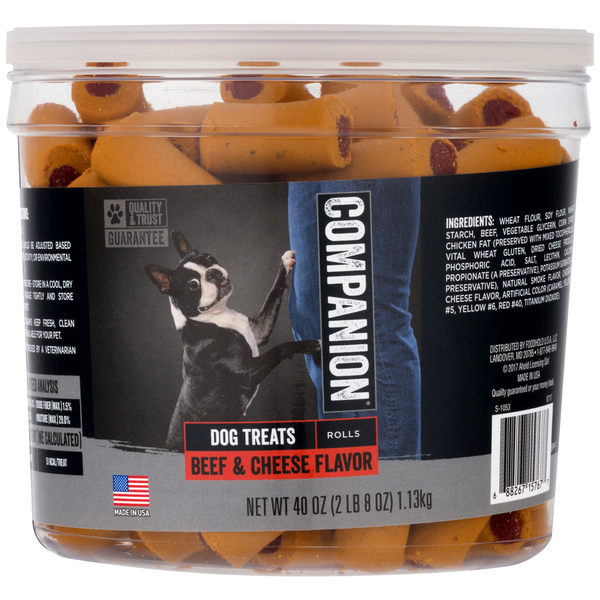 Companion Treats for Dogs Beef & Cheese Flavor Rolls