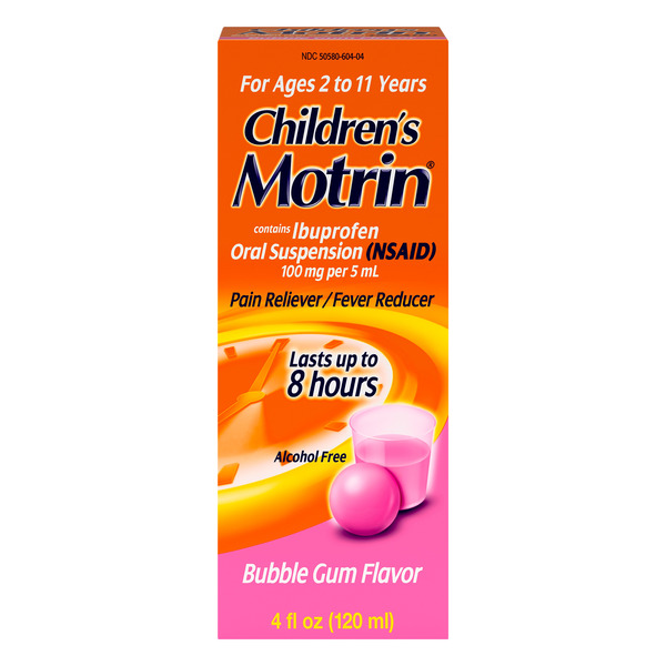 Motrin Children's Pain Reliever & Fever Reducer Bubble Gum Flavor
