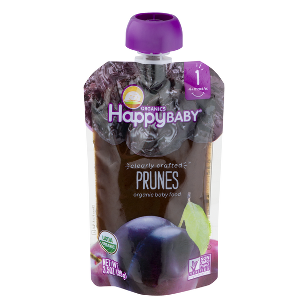 HappyBaby Stage 1 Baby Food Prunes Organic