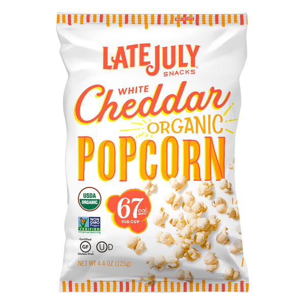 Late July Snacks Popcorn White Cheddar Gluten Free Organic