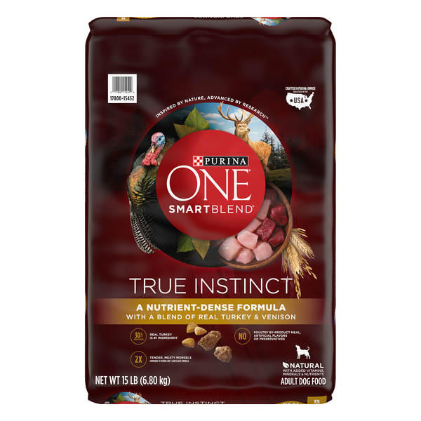 Purina ONE SmartBlend Adult Dog Dry Food Turkey & Venison Natural