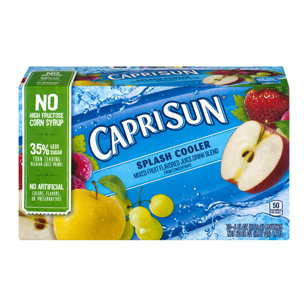 Capri Sun Splash Cooler Mixed Fruit Juice - 10 pk