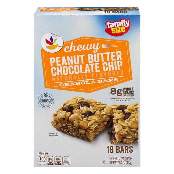 GIANT Chewy Granola Bars Peanut Butter Chocolate Chip - 18 pk